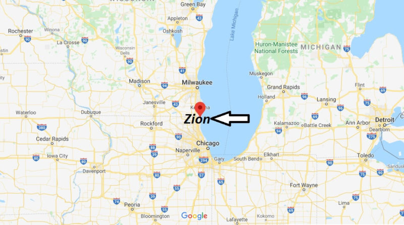 Where is Zion, Illinois? What county is Zion in? Zion Map