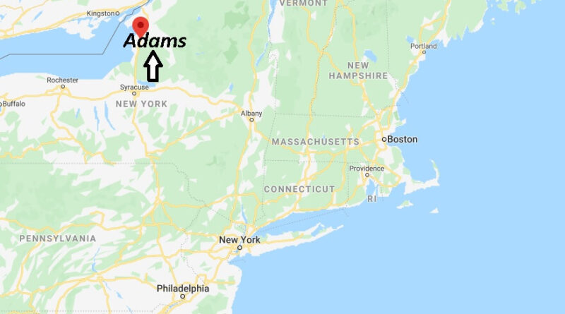 Where is Adams New York? Where is area code 13605