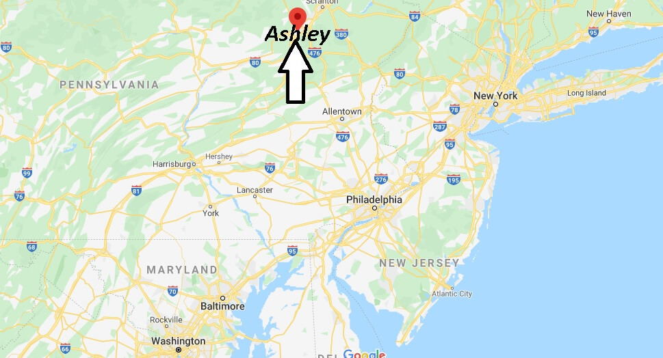 Where is Ashley Pennsylvania? Where is zip code 18706