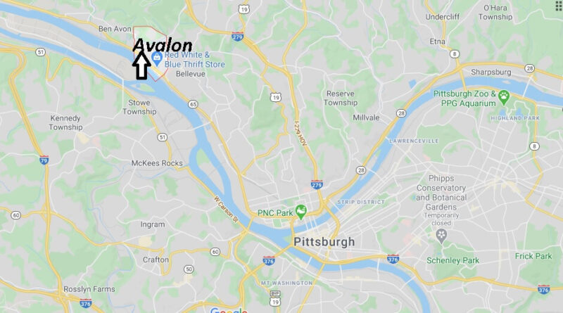 Where is Avalon Pennsylvania? Where is zip code 15202