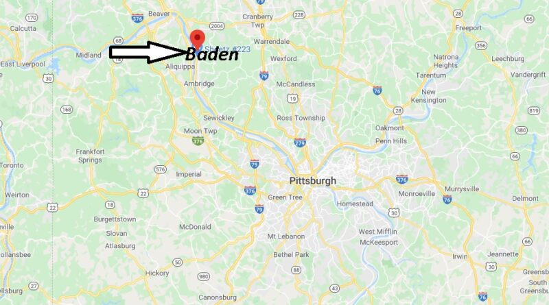 Where is Baden Pennsylvania? Where is zip code 15005