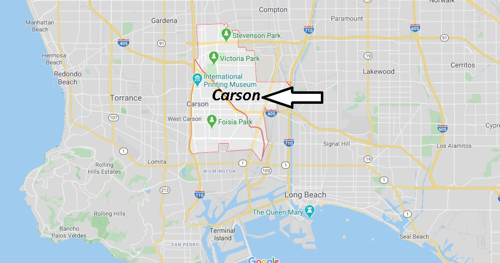 Where is Carson California? What county is Carson CA in