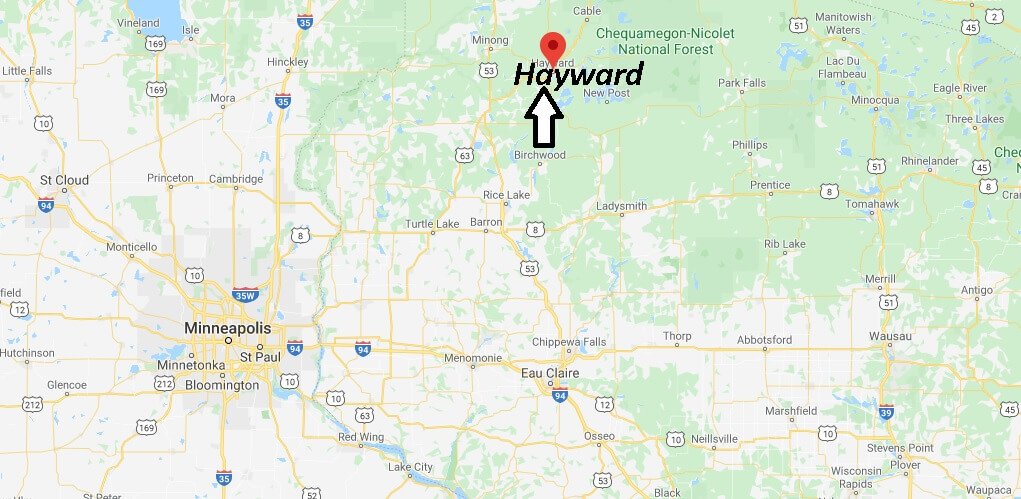 Where is Hayward, Wisconsin? What county is Hayward Wisconsin in