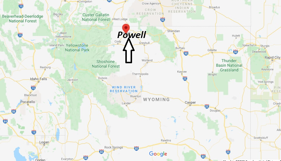Where is Powell, Wyoming? What county is Powell Wyoming in
