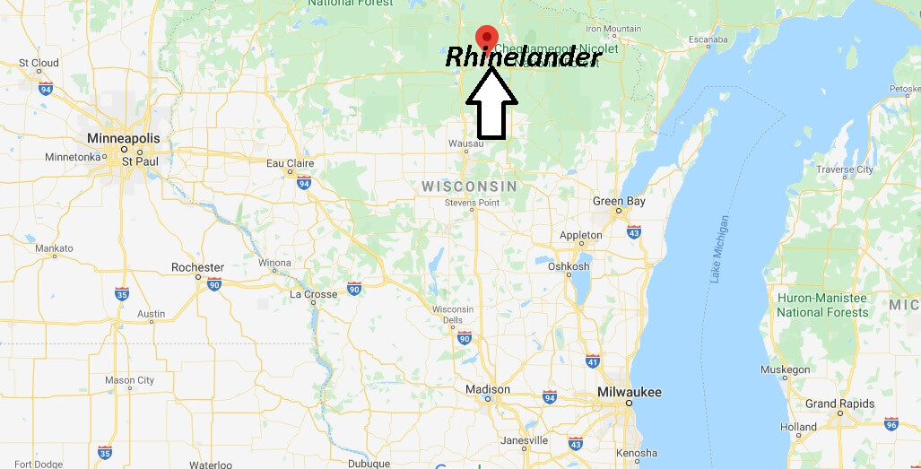 Where is Rhinelander, Wisconsin? What county is Rhinelander Wisconsin in