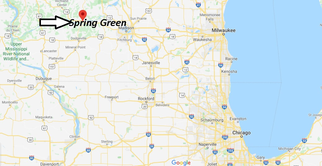 Where is Spring Green, Wisconsin? What county is Spring Green Wisconsin in