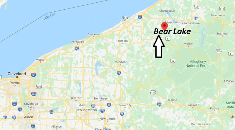 Where is Bear Lake Pennsylvania? Where is zip code 16402