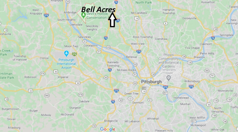 Where is Bell Acres Pennsylvania? Where is zip code 15143