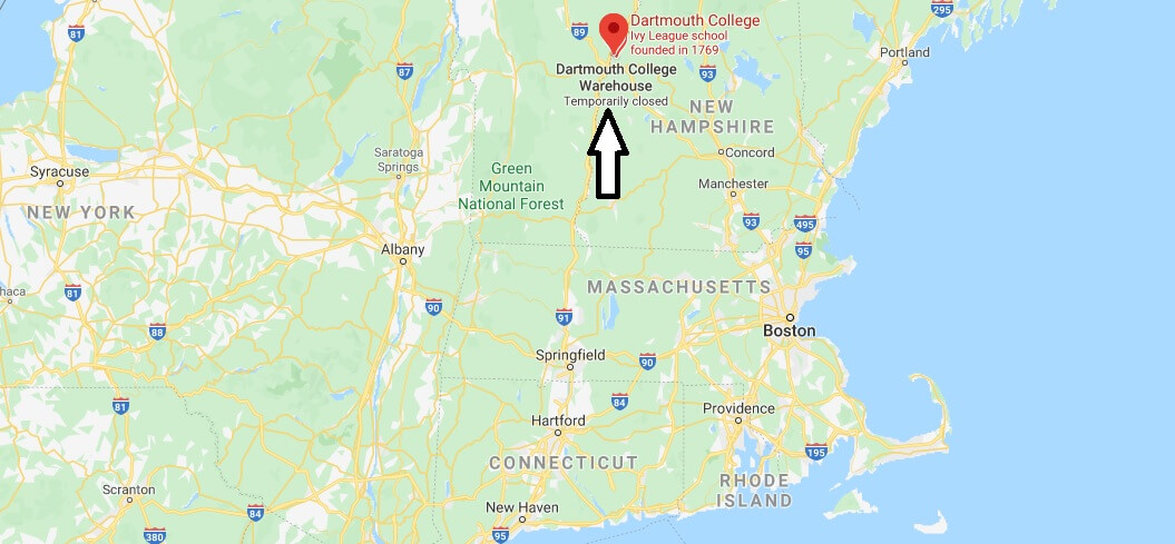 Where is Dartmouth College Located? What City is Dartmouth College in