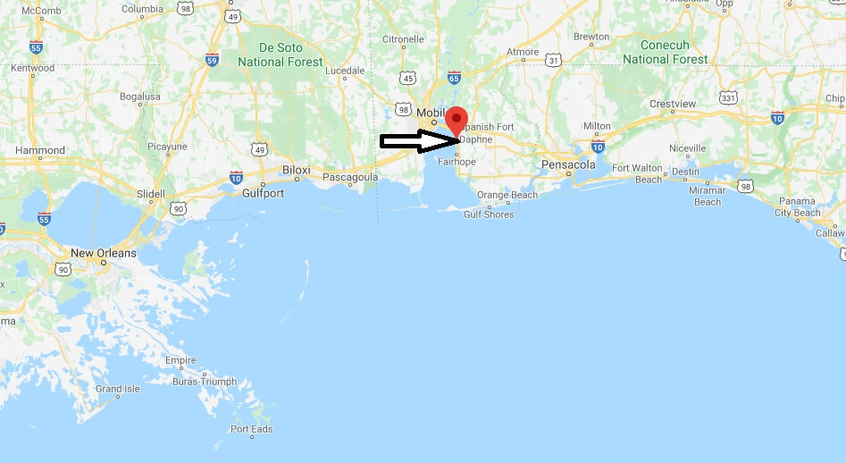 Where is Daphne Alabama? What County is Daphne in! ZIP code 36526