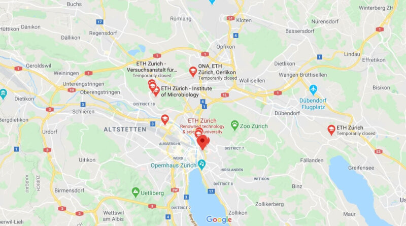 Where is ETH Zürich Located? What City is ETH Zürich in