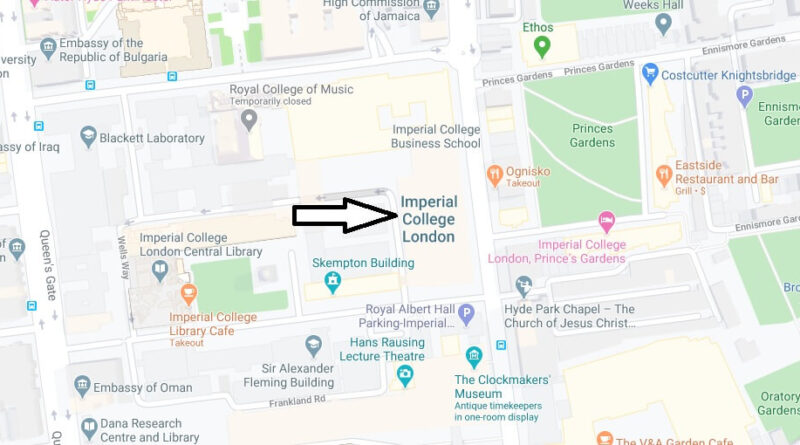 Where is Imperial College London Located? What City is Imperial College London in