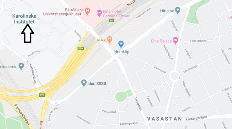Where is Karolinska Institute Located? What City is Karolinska Institute in