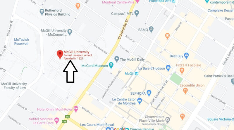 Where is McGill University Located? What City is McGill University in