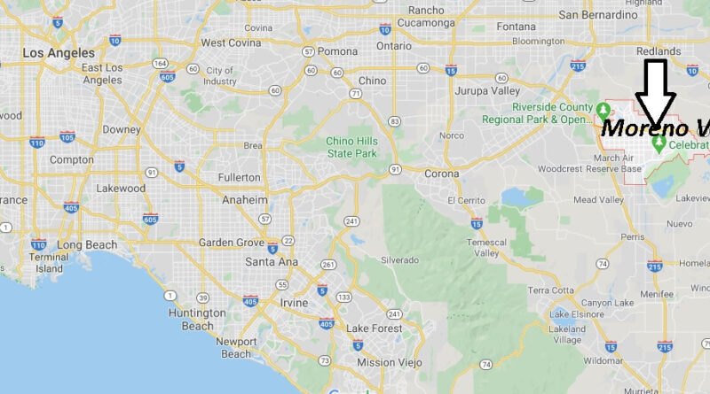 Where is Moreno Valley California? What County is Moreno Valley in