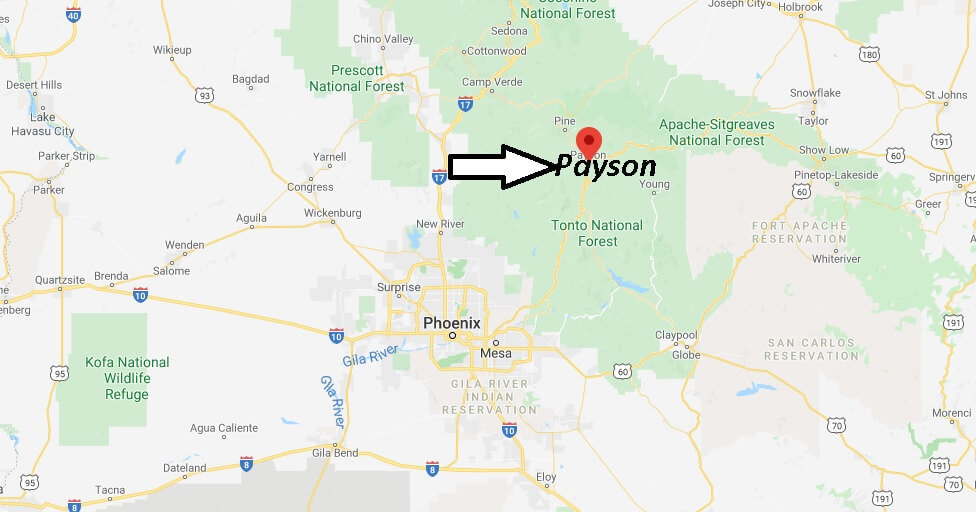 Where is Payson Arizona? What County is Payson in