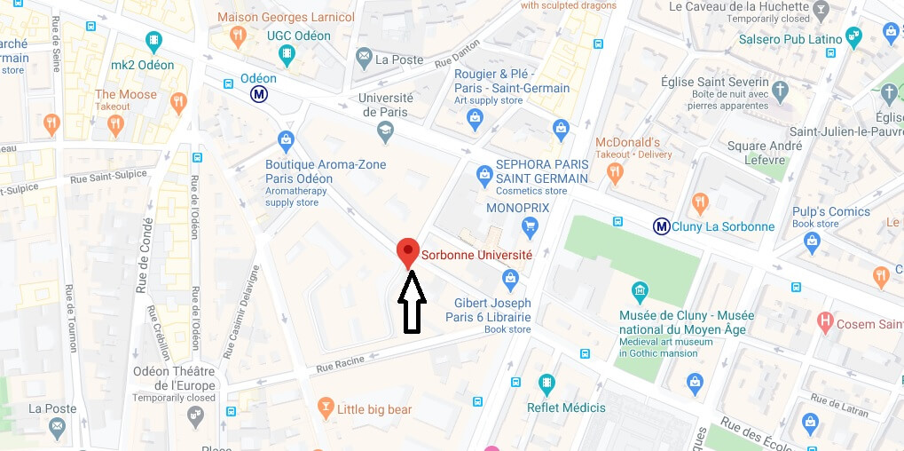 Where is Sorbonne Universite Located? What City is Sorbonne Universite in