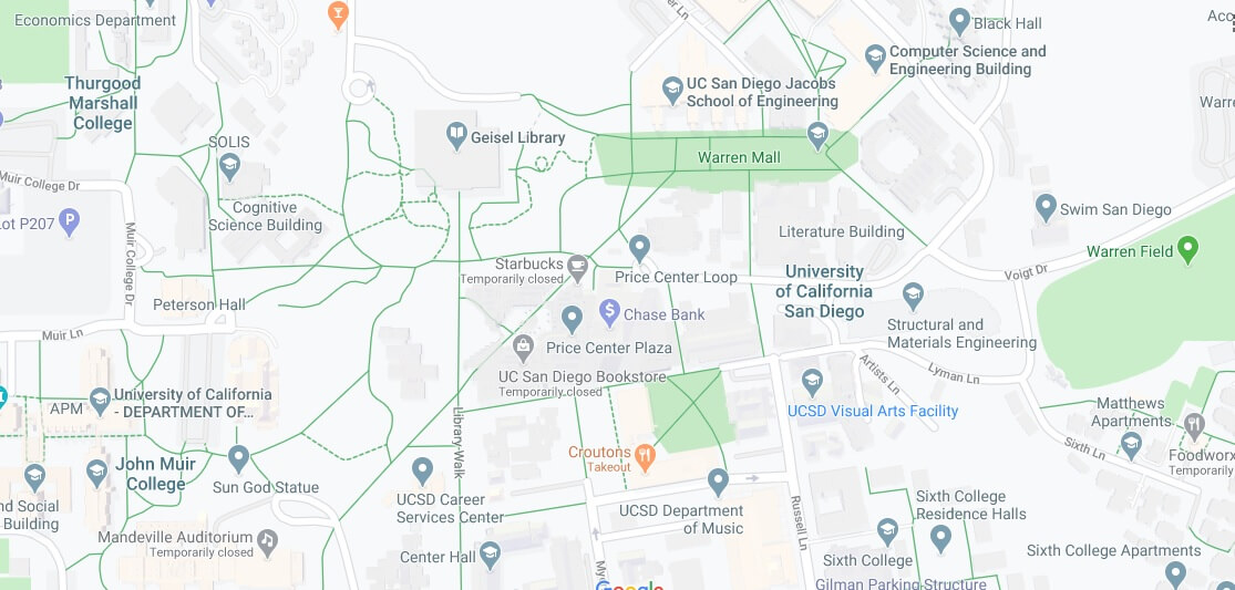 Where is University of California San Diego Located? What City is University of California San Diego in