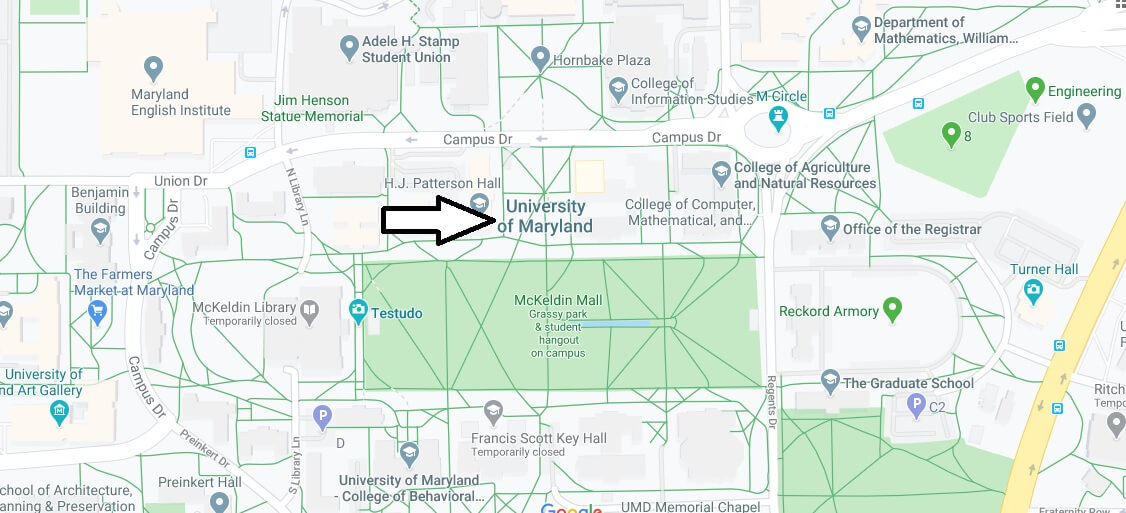 Where is University of Maryland Located? What City is University of Maryland in