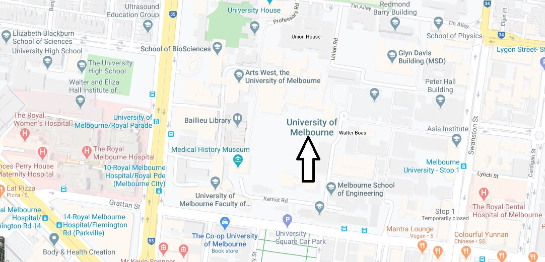 Where is University of Melbourne Located? What City is University of Melbourne in