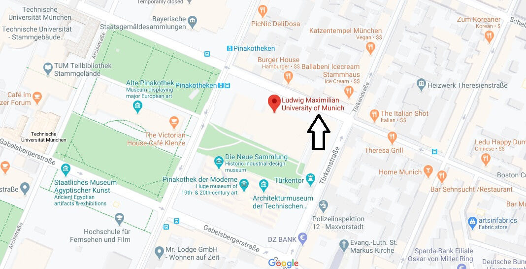 Where is University of Munich Located? What City is University of Munich in