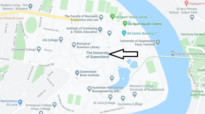 Where is University of Queensland Located? What City is University of Queensland in