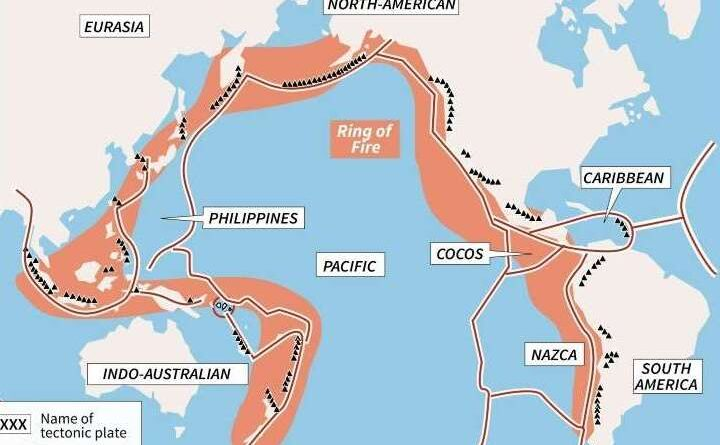 Where is the ring of fire? What countries are in the Ring of Fire
