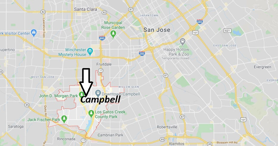 Where is Campbell California? What County is Campbell in