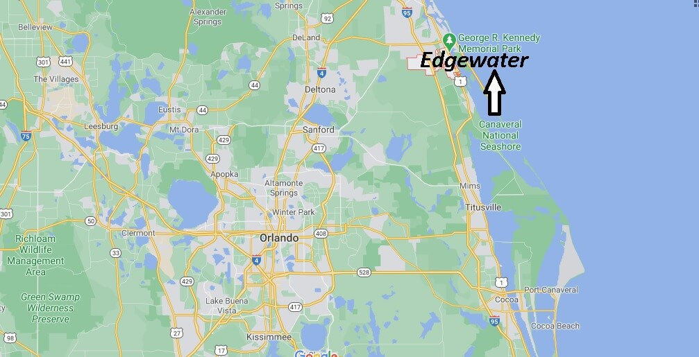 Edgewater Florida Located
