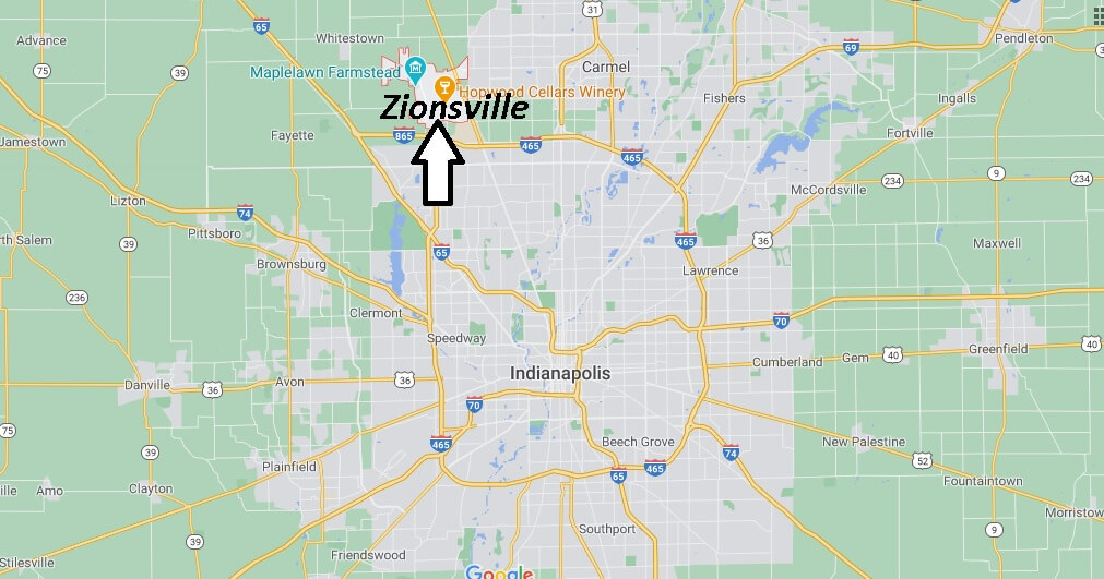 What county is Zionsville IN in