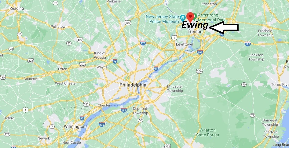 What towns are near Ewing NJ