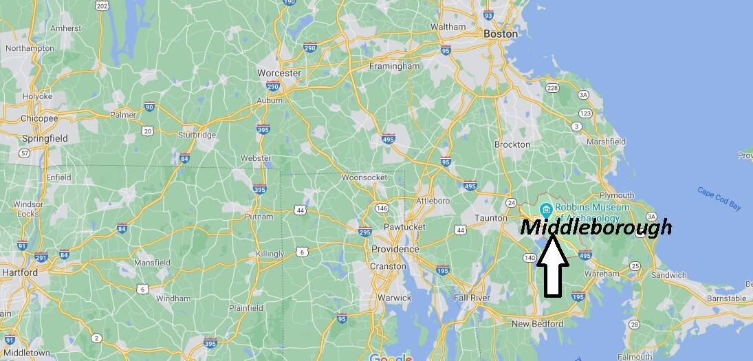 What towns are near Middleboro MA