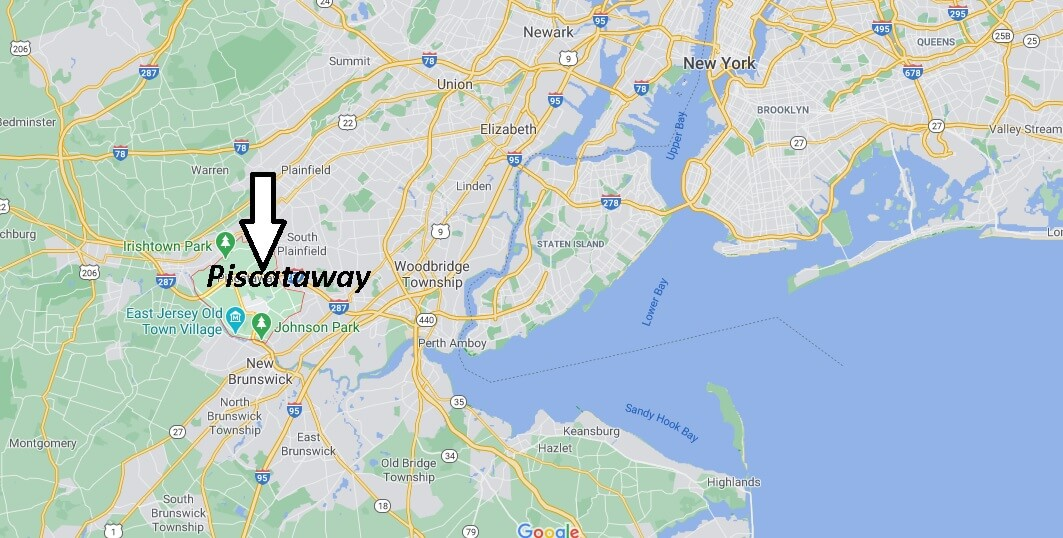 What towns are near Piscataway NJ