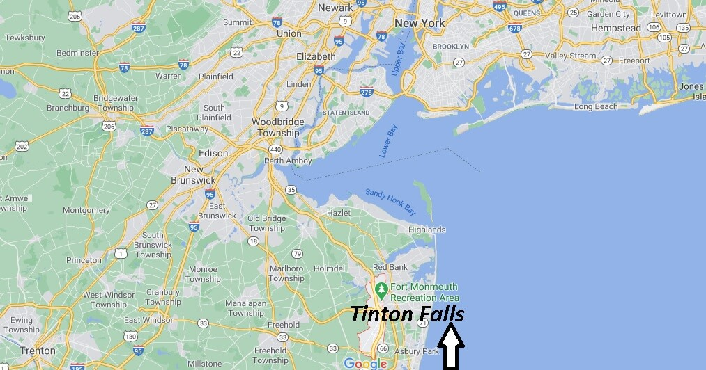 What towns are near Tinton Falls NJ