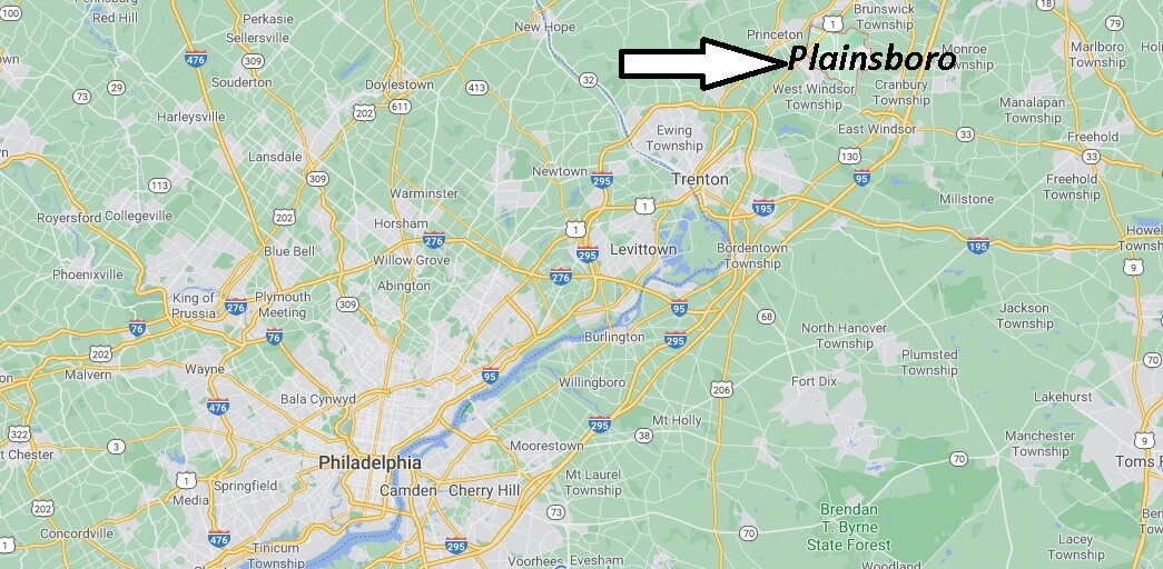 Which county is Plainsboro NJ
