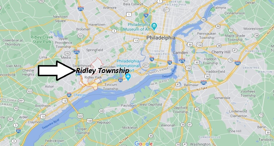 What towns are in Ridley Township