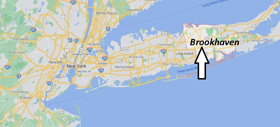 What towns are part of Brookhaven