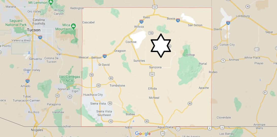 What cities are in Cochise County Arizona