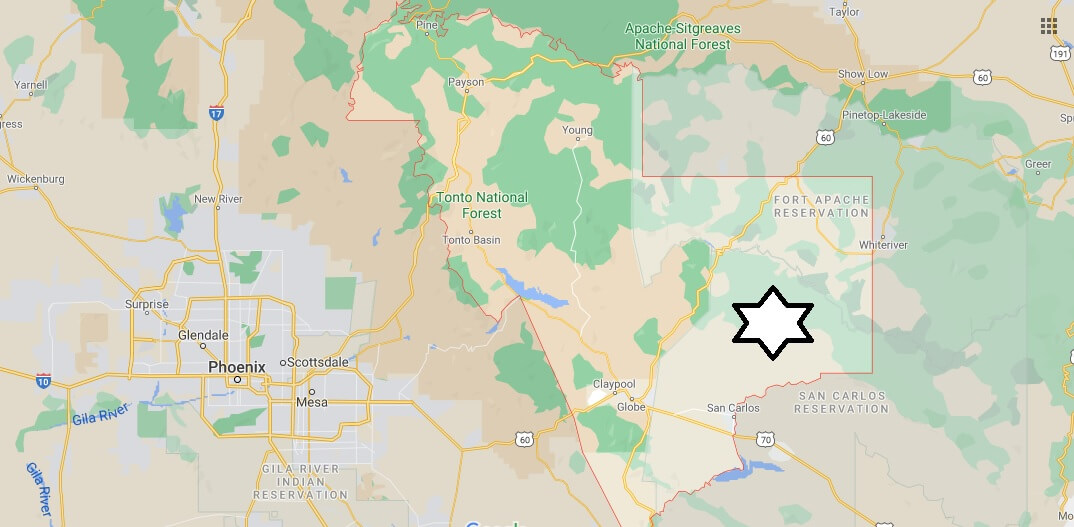What cities are in Gila County Arizona