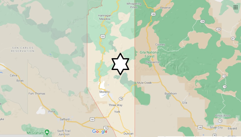 What cities are in Greenlee County Arizona