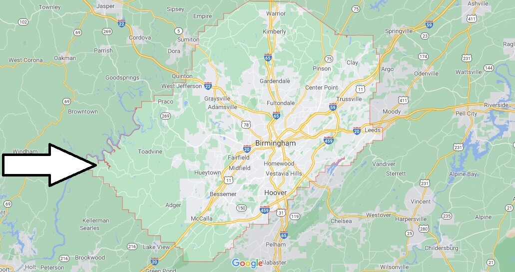 What cities are in Jefferson County Alabama