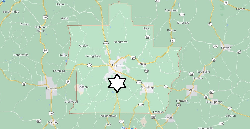 What cities are in Pike County Alabama