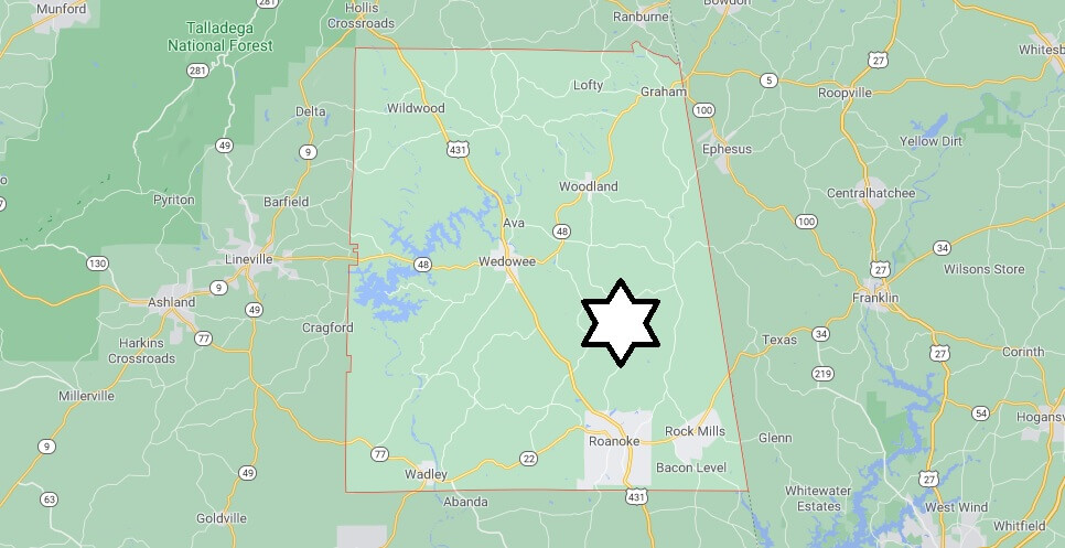 What cities are in Randolph County Alabama