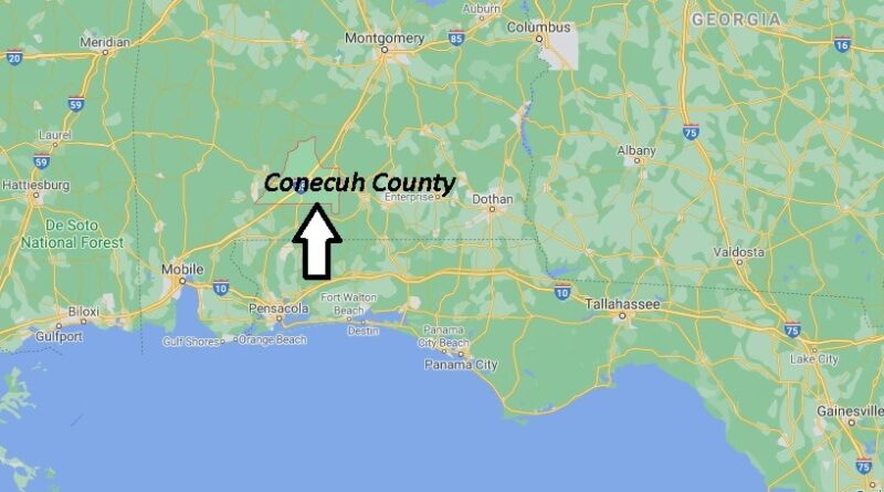 Where is Conecuh County Located