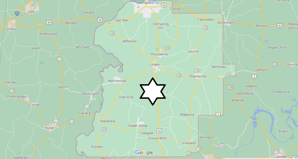 Where is Marengo County Located