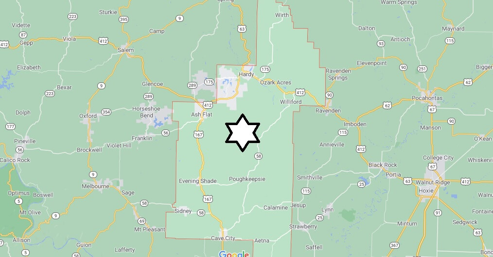 What cities are in Sharp County Arkansas