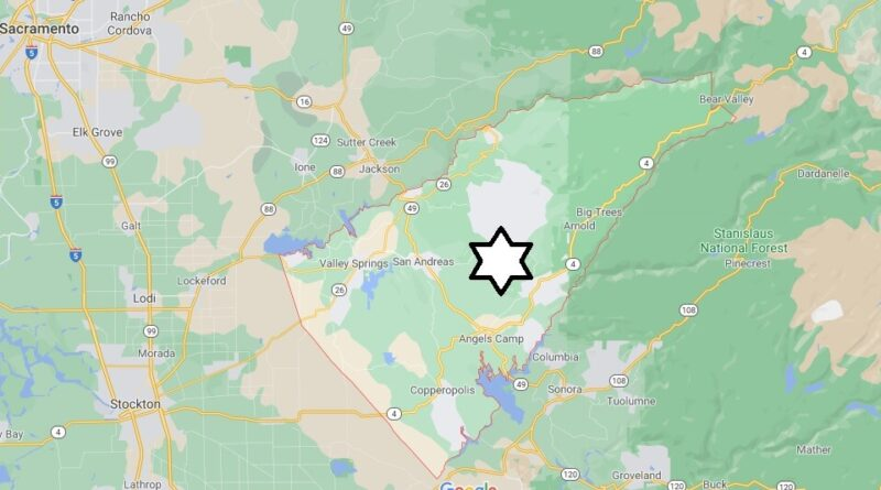 Where is Calaveras County Located