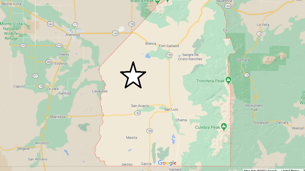 What cities are in Costilla County Colorado