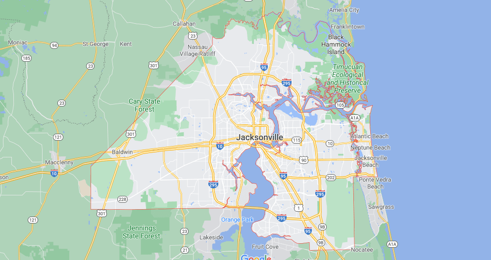 What cities are in Duval County