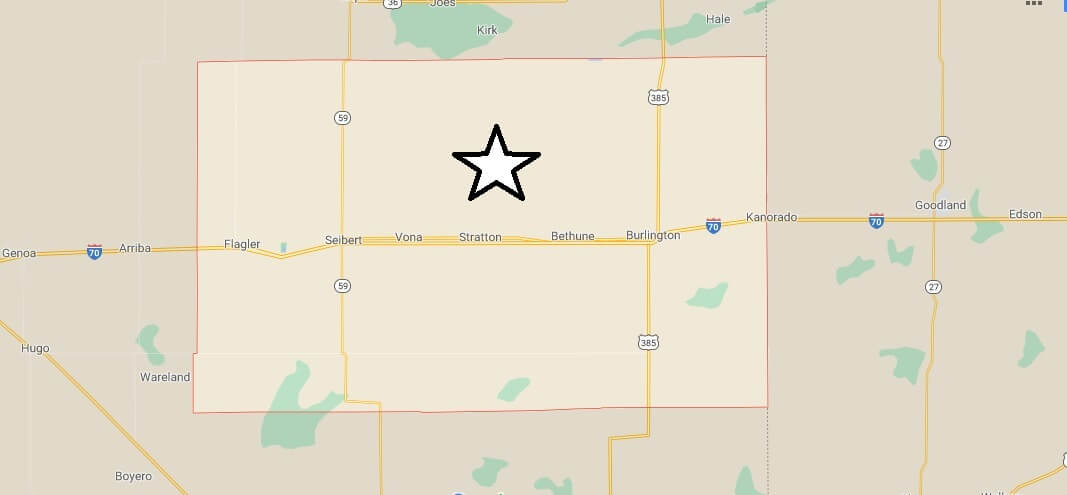 What cities are in Kit Carson County Colorado